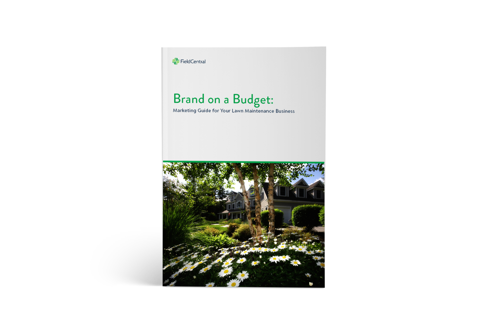 Brand on a Budget: Marketing Guide for Your Lawn Maintenance Business ebook cover.