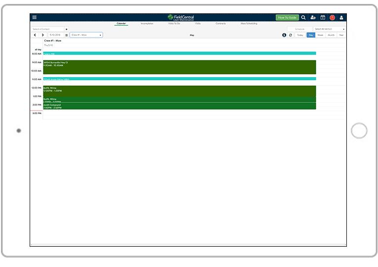 Field Central Maintenance Module Scheduling
