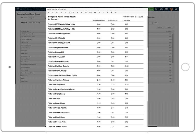 FieldCentral Maintenance Reports