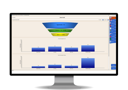 Pool services marketing and sales management software.
