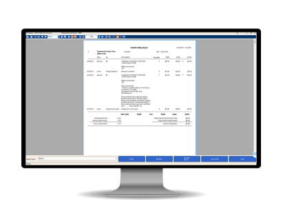 Pool services billing software.