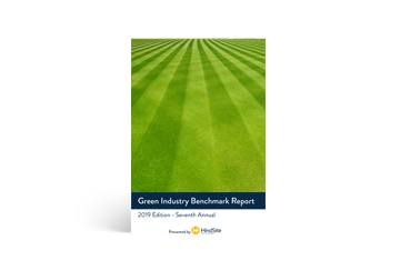 2020 Green Industry Benchmark Report ebook cover.